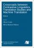 Cover for  Crossroads between contrastive linguistics, translation studies and machine translation: TC3-II