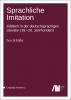 Cover for  Sprachliche Imitation: Jiddisch in der deutschsprachigen Literatur (18.-20. Jahrhundert)