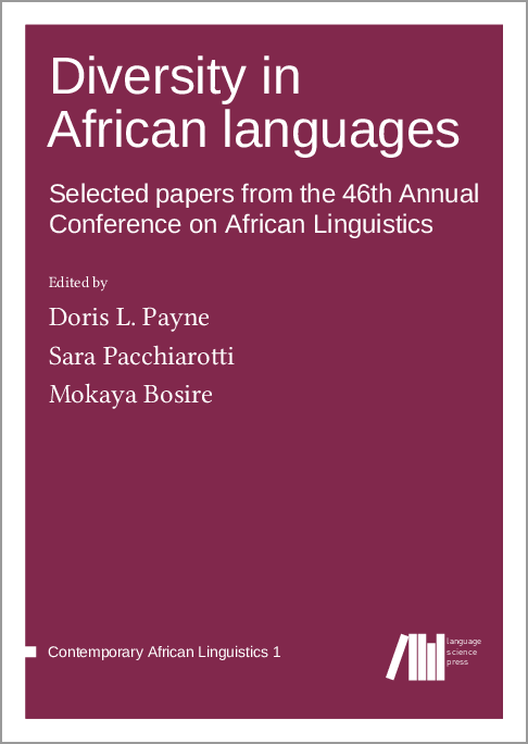 Cover for  Diversity in African languages: Selected papers from the 46th Annual Conference on African Linguistics