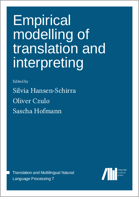 Cover for Forthcoming: Empirical modelling of translation and interpreting
