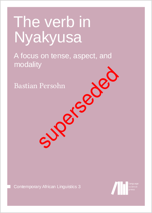 Cover for Forthcoming: The Verb in Nyakyusa: A focus on tense, aspect, and modality