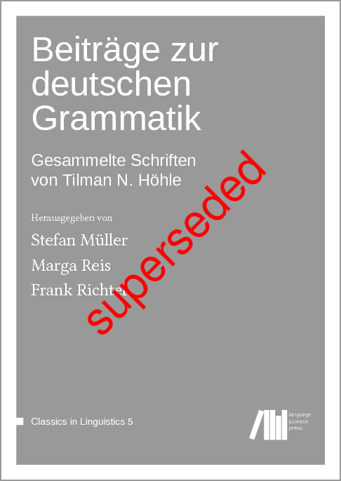 Cover for Superseded: Beiträge zur deutschen Grammatik: Gesammelte Schriften von Tilman N. Höhle