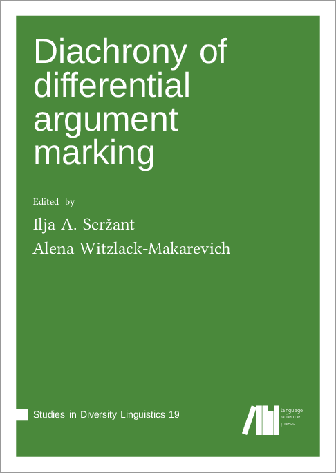 Cover for  Diachrony of differential argument marking