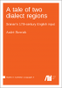 Cover for Forthcoming: A tale of two dialect regions: Sranan's 17th-century English input
