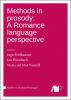 Cover for Forthcoming: Methods in prosody: A Romance language perspective