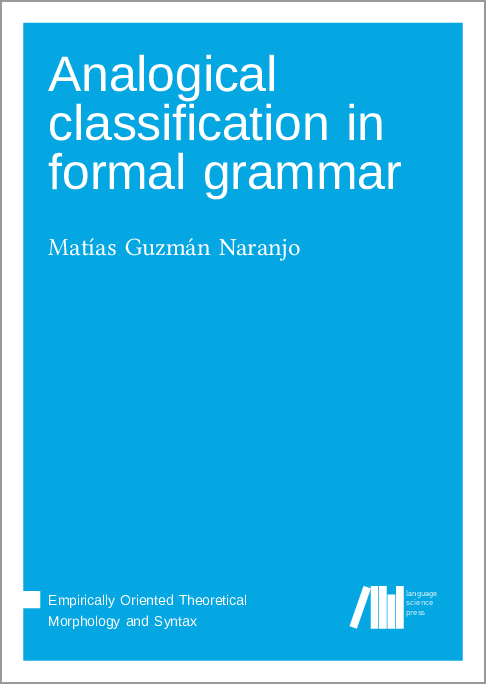 Cover for  Analogical classification in formal grammar