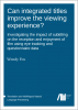 Cover for  Can integrated titles improve the viewing experience? Investigating the impact of subtitling on the reception and enjoyment of film using eye tracking and questionnaire data