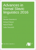 Cover for Forthcoming: Advances in formal Slavic linguistics 2016