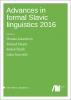 Cover for  Advances in formal Slavic linguistics 2016