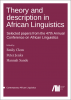 Cover for Forthcoming: Theory and description in African Linguistics: Selected papers from the 47th Annual Conference on African Linguistics