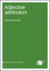 Cover for  Adjective attribution