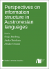 Cover for  Perspectives on information structure in Austronesian languages