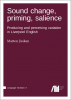 Cover for  Sound change, priming, salience: Producing and perceiving variation in Liverpool English