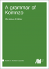 Cover for Forthcoming: A grammar of Komnzo