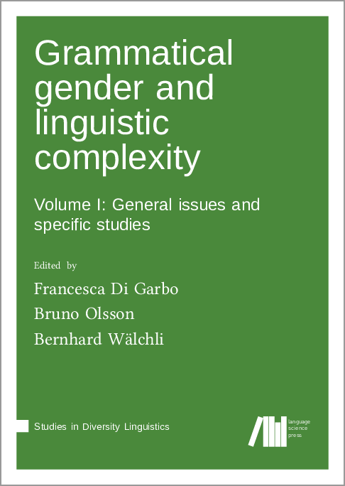 Cover for Forthcoming: Grammatical gender and linguistic complexity I: General issues and specific studies
