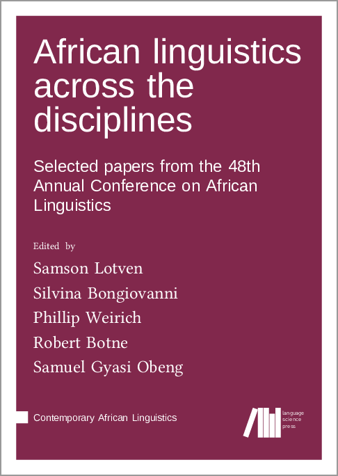 Cover for Forthcoming: African linguistics across the disciplines: Selected papers from the 48th Annual Conference on African Linguistics