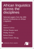 Cover for  African linguistics across the disciplines: Selected papers from the 48th Annual Conference on African Linguistics