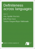 Cover for  Definiteness across languages