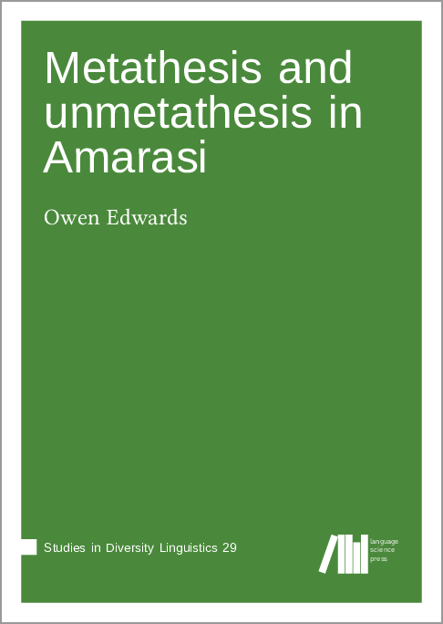Cover for  Metathesis and unmetathesis in Amarasi