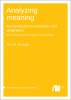 Cover for  Analyzing meaning: An introduction to semantics and pragmatics. Second corrected and slightly revised edition