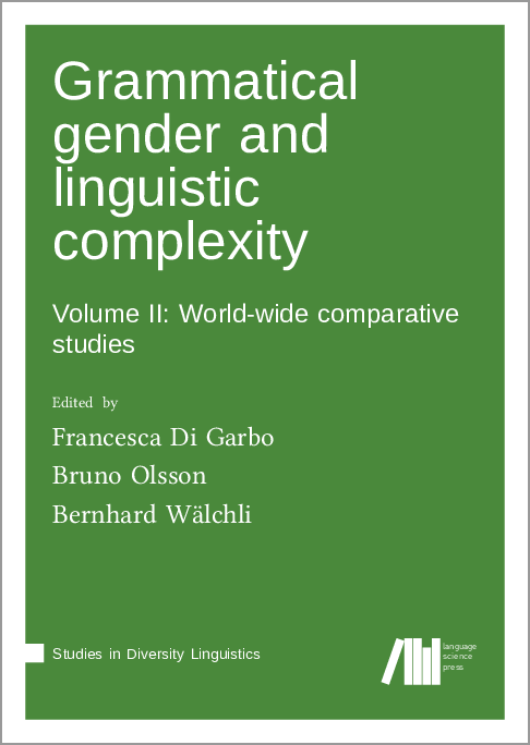 Cover for Forthcoming: Grammatical gender and linguistic complexity II: Case-studies in diachrony and typology
