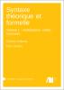 Cover for Forthcoming: Syntaxe théorique et formelle: Volume 1: modélisation, unités, structures