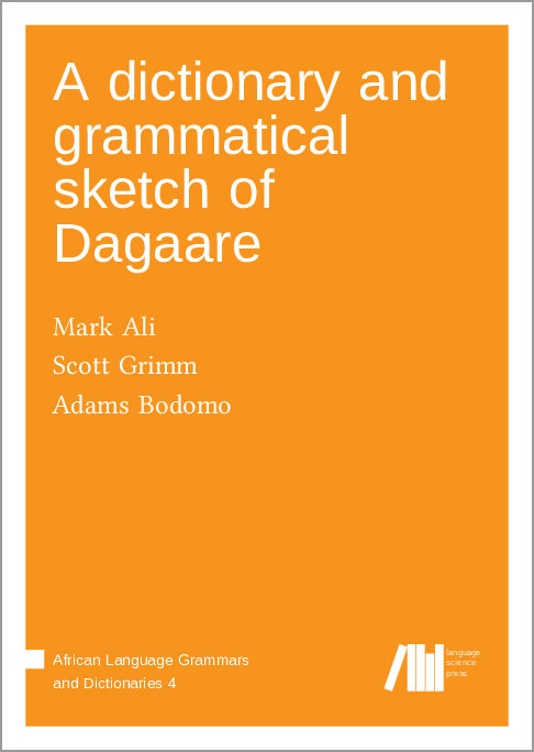 Cover for Forthcoming: Dagaare-English dictionary