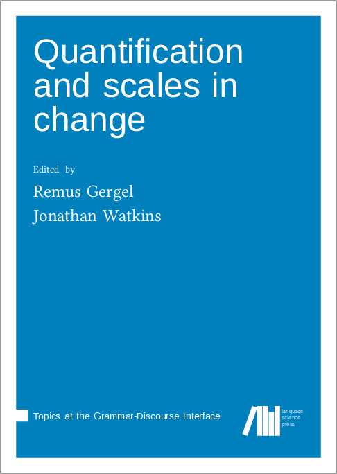 Cover for  Quantification and scales in change