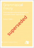 Cover for Superseded: Grammatical theory: From transformational grammar to constraint-based approaches