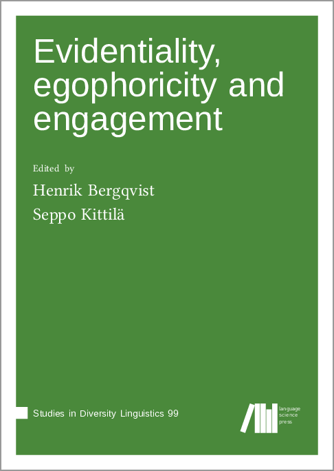 Cover for  Evidentiality, egophoricity and engagement