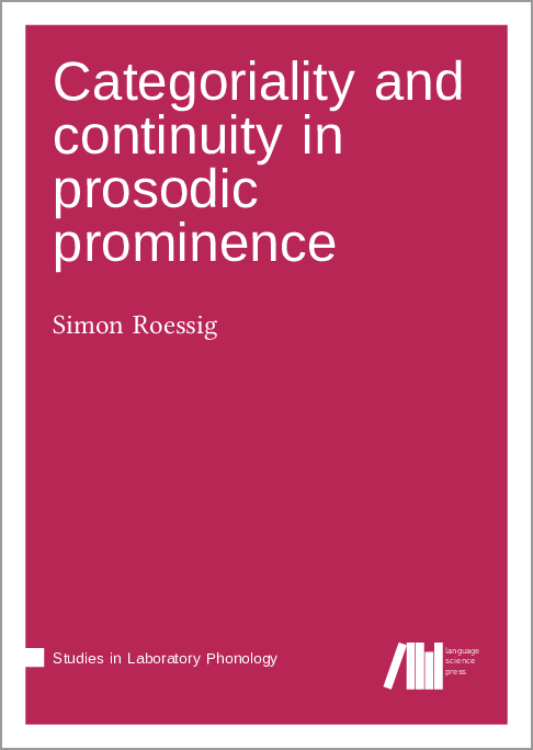 Cover for  Categoriality and continuity in prosodic prominence