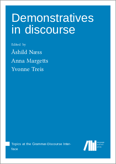 Cover for Forthcoming: Demonstratives in discourse