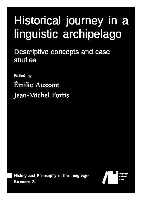 Cover for Forthcoming: Essays in the history of linguistics: Descriptive concepts and case studies