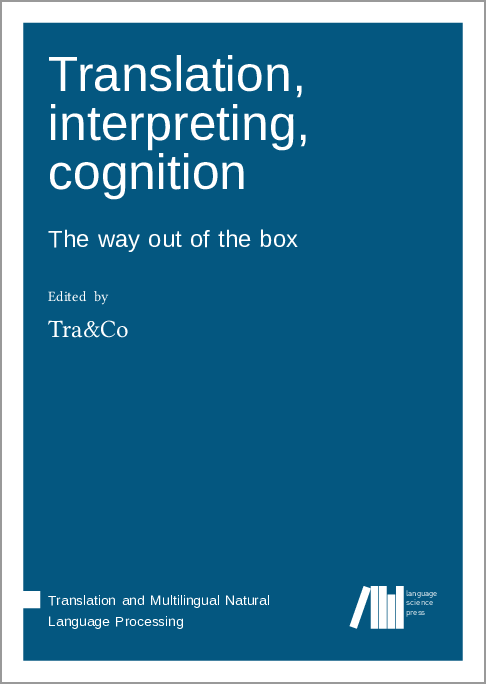 Cover for Forthcoming: Cognitive Translatology: Empirical and interdisciplinary paradigms