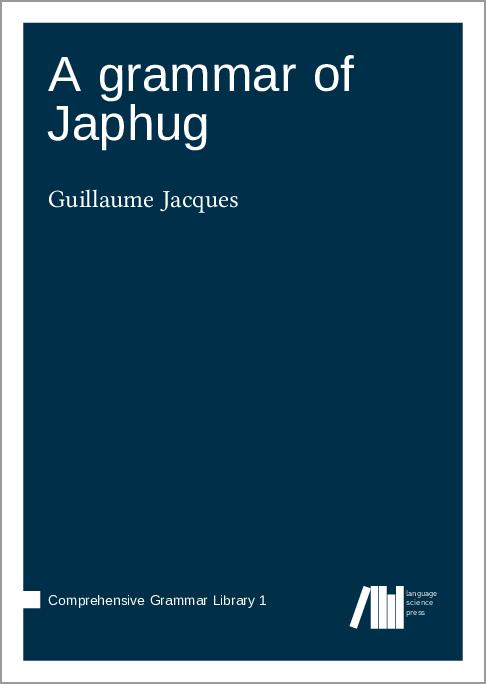Cover for Forthcoming: A grammar of Japhug