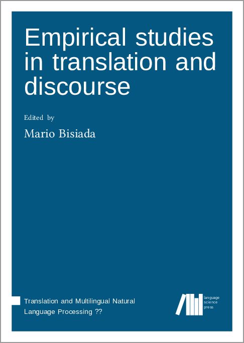 Cover for  Empirical studies in translation and discourse