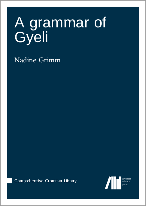 Cover for Forthcoming: A grammar of Gyeli