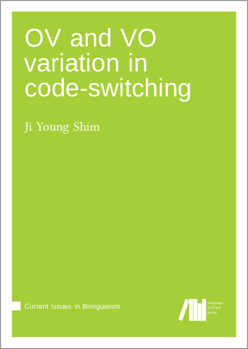 Cover for Forthcoming: OV and VO variation in code-switching