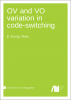 Cover for  OV and VO variation in code-switching