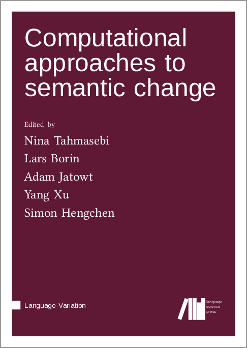 Cover for Forthcoming: Computational approaches to semantic change