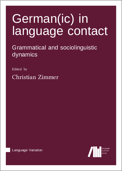Cover for Forthcoming: German(ic) in language contact: Grammatical and sociolinguistic dynamics