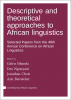 """Cover image of  """" Descriptive and theoretical approaches to African linguistics"""""""