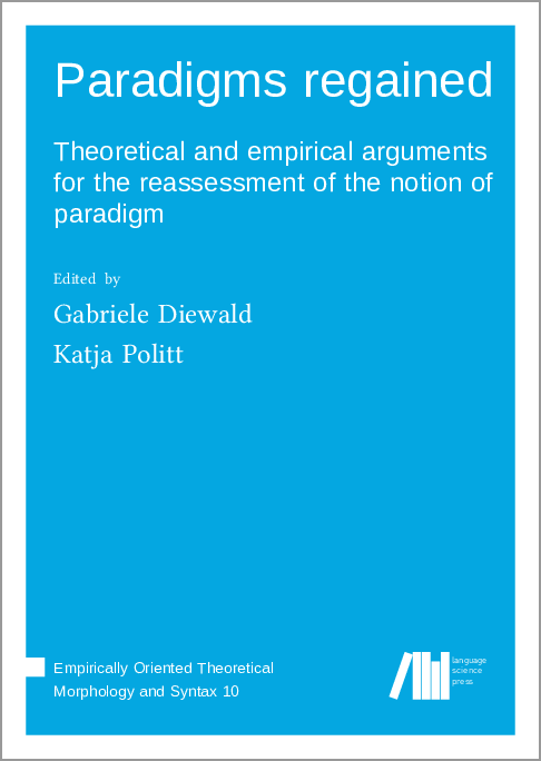 """Cover image of  """"Paradigms regained"""""""