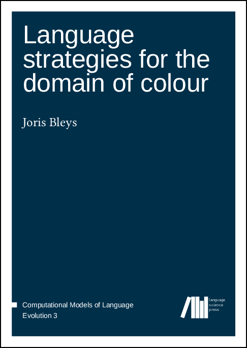 Cover for  Language strategies for the domain of colour