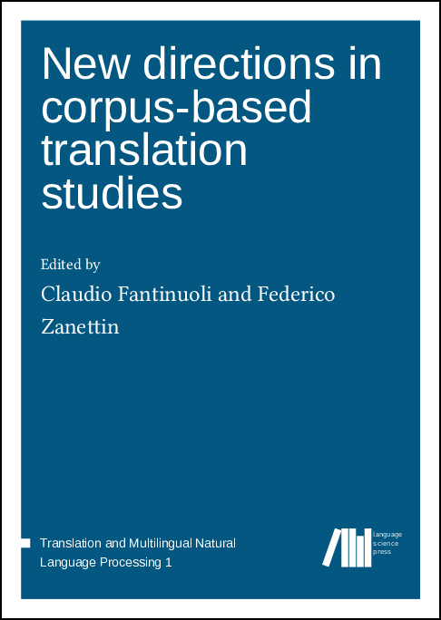 Cover for  New directions in corpus-based translation studies