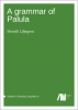 Cover for A grammar of Palula