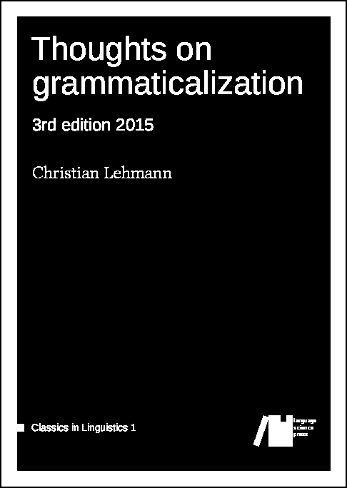Cover for  Thoughts on grammaticalization