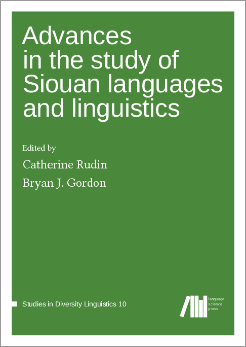 Cover for  Advances in the study of Siouan languages and linguistics