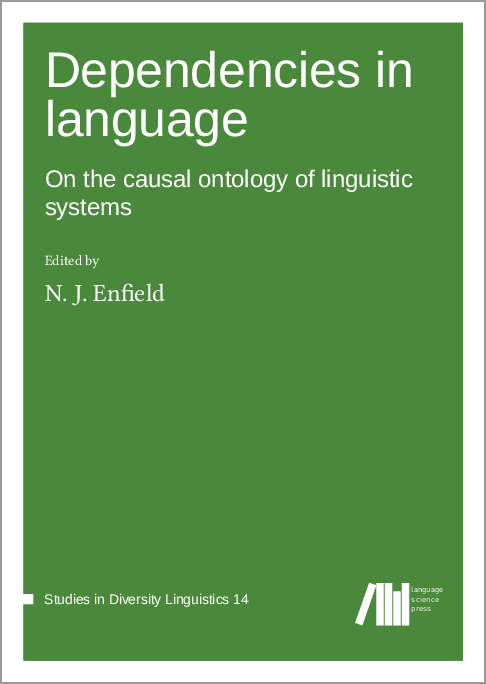 Cover for Forthcoming: Dependencies in language: On the causal ontology of linguistic systems